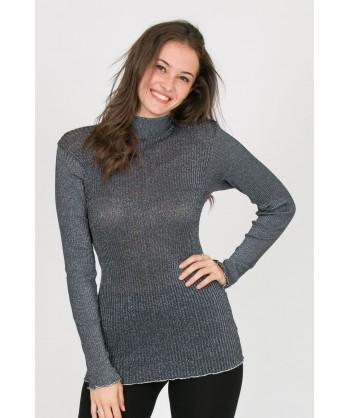 lupetto maniche lunghe in lana e lurex