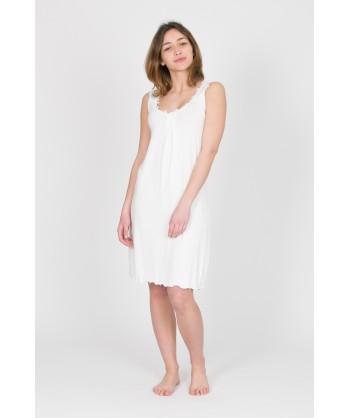 camicia da notte bianco panna con macramè - le idee